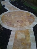 Gold travertine unfilled honed tumbled pavers