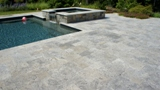 Silver tumbled pavers
